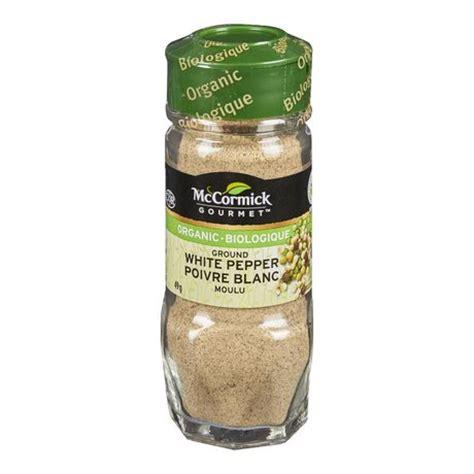 mccormick gourmet organic ground white pepper walmart ca