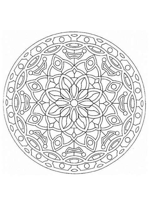 imagenes flor mandala dibujos para colorear mandala hermosa flor es hellokids com