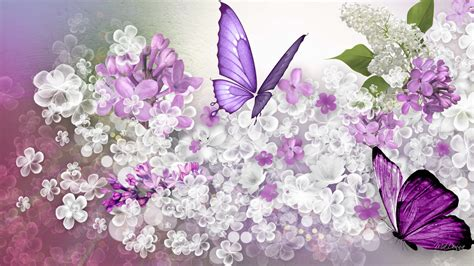 spring themes for windows 10 spring lilacs desktop wallpaper wallpapersafari