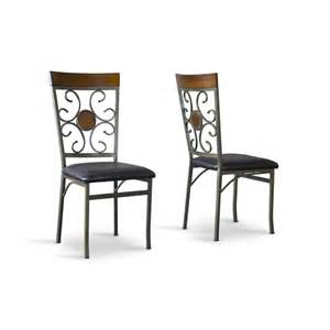 Black Dining Room Chairs Set Of 4 Novara Brass Black Dining Chairs Set Of 4 Rcwilley Image1