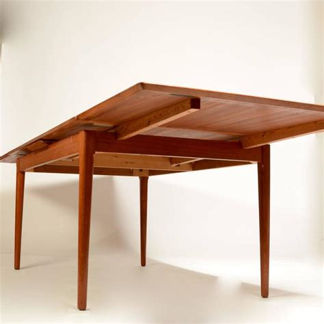 Large Modern Dining Room Table by Large Modern Teak Dining Table By L F Mobler For