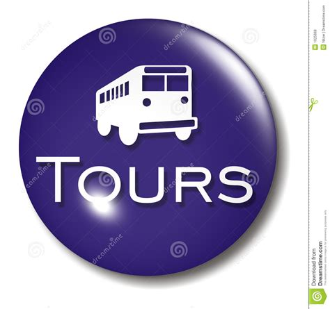 Green Table Settings - bus tours button orb sign royalty free stock photos image 1025668