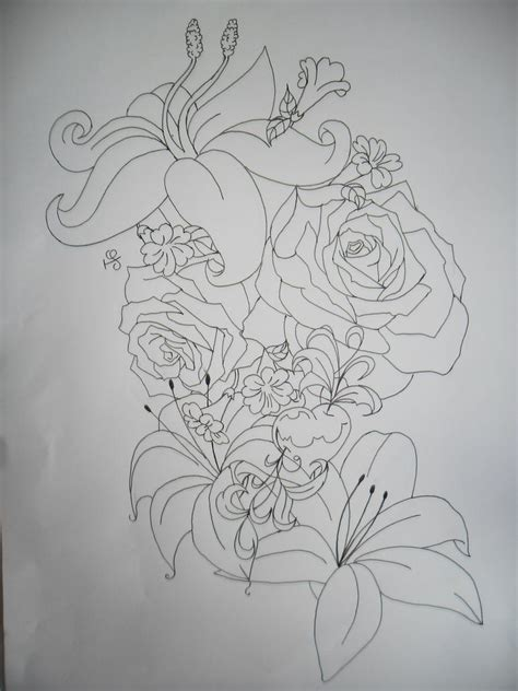 flower collage tattoo designs flower outline tattoos