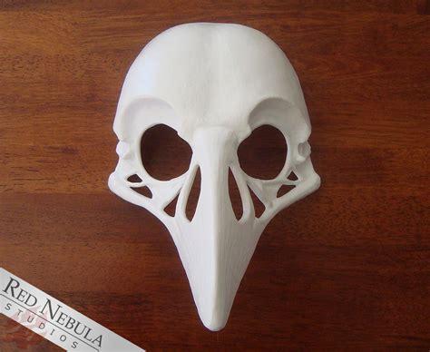 printable raven mask raven skull mask blank red nebula studios