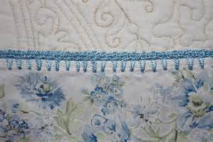 baby blanket crocheted lace edge shabby chic by