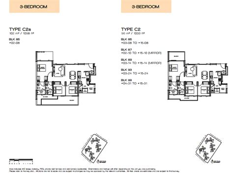 the vue floor plans vue 8 residence floor plans singapore property pick