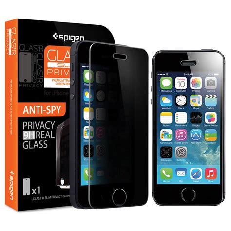 spigen iphone 5s 5c 5 screen protector glas tr slim privacy