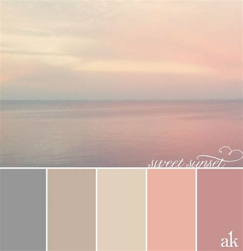 a sunset inspired color palette gray taupe peachy pink pink palettes pink