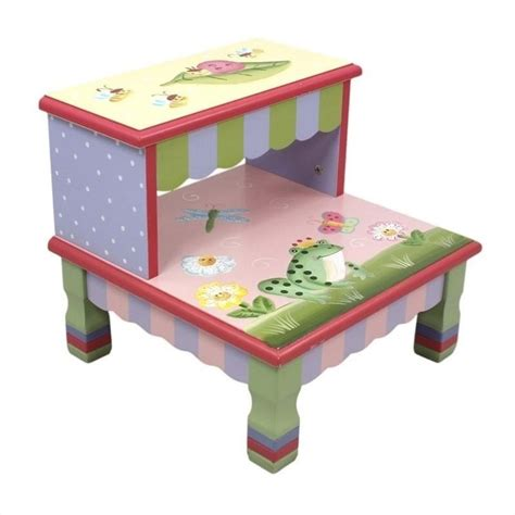 Pictures Of Painted Fireplaces by Fantasy Fields Hand Carved Magic Garden Step Stool W 7486a