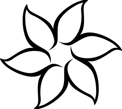 flower drawing templates flower outline clip at clker vector clip