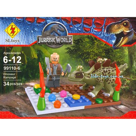 Mainan Lego Sl Toys 99110 6 Jurassic World конструктор sl99110