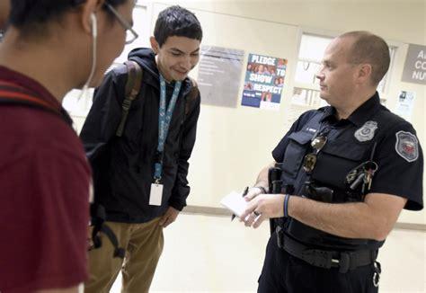 School Officer by School Resource Officers Focus On Mentorship Teaching