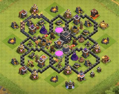 coc edit layout th7 16 best town hall th7 trophy bases 2017 3 air defenses