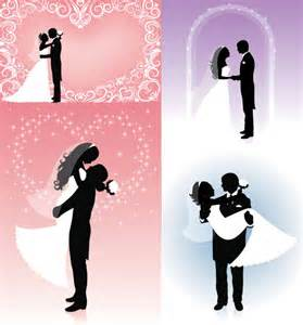 vector people silhouette wedding graphic hive
