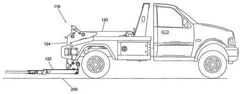 tow truck parts diagram patent us7909561 tow truck with underlift
