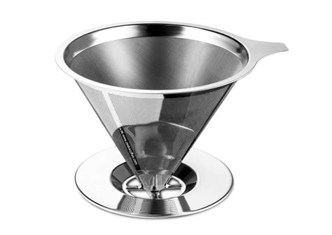 Promo V60 Cone Coffee Filter Stainless Coffee Dripper Saringan Kopi osaka stainless steel pour coffee dripper tools and