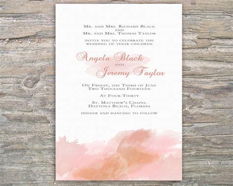 printable wedding invitations watercolor printable watercolor invitation diy for wedding or special