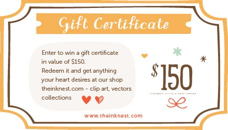 Gift Card Giveaway Template by 2013 Giveaway Win 150 Gift Certificate The Ink Nest