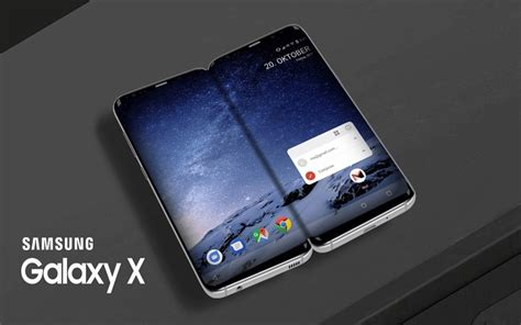 Samsung X 2018 by Galaxy X Samsung Confirme Smartphone Pliant Pour 2018