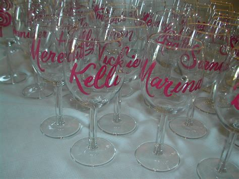 bridal shower favors lettering studio