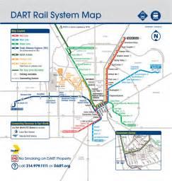 Dallas Rail Map transit maps