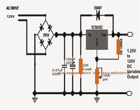 1 25v to 120v mains adjustable voltage regulator ic tl783 datasheet circuit diagram
