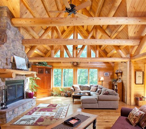 How To Build Rustic Cabinets Reading Pa Family Retreat Rustic Living Room