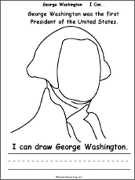 george washington coloring page kindergarten george washington i can a printable book