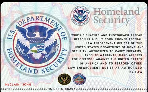 Dhs Business Card Template by Chs Homeland Security Id Card Pictures To Pin On