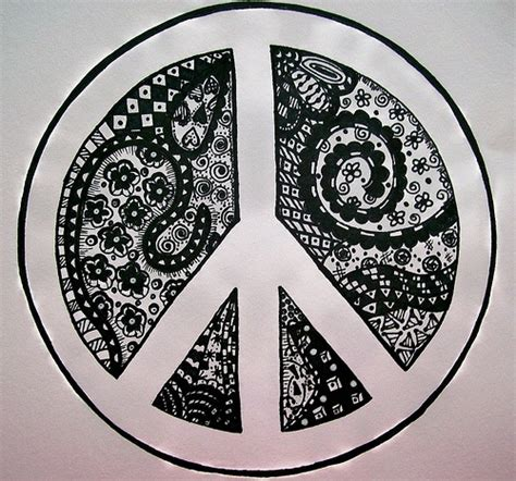 doodle peace sign zentangle peace peace signs home from
