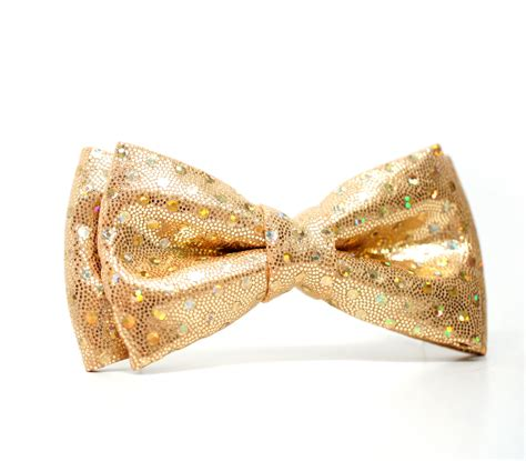 gold glitter bow tie for boys toddlers baby pre tied