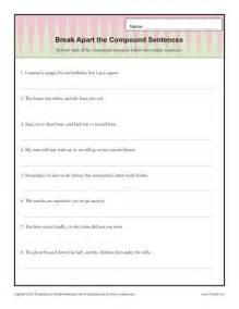 break apart the compound sentence sentence structure