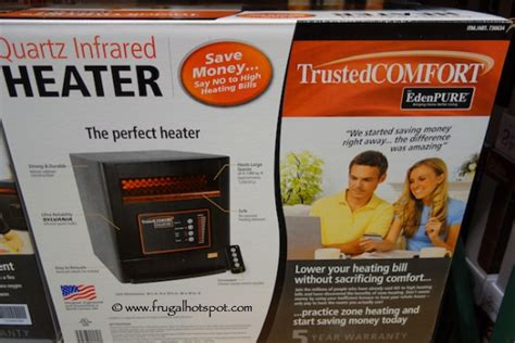 edenpure heater fan not working costco sale trustedcomfort by edenpure quartz infrared