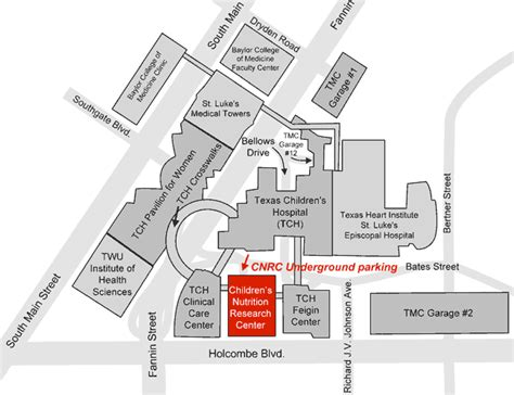 texas childrens hospital map children s nutrition research center