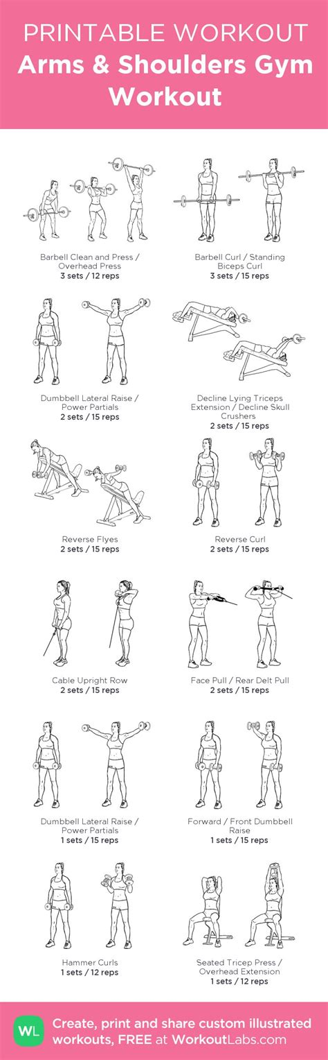 printable workout plan for the gym 39 best images about projects to try on pinterest