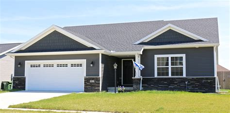 dark gray siding house ironstone dark grey siding and shakes white trim and black roof in mahomet il