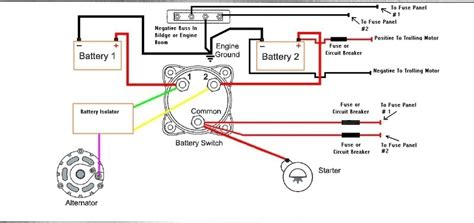 marine dual battery switch wiring diagram battery selector
