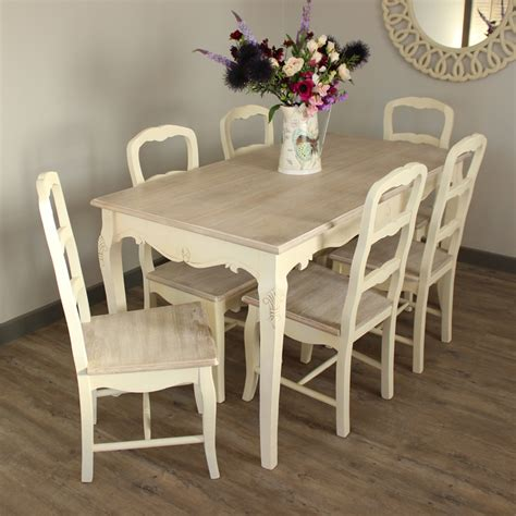 cream large dining cream dining room set table   chair