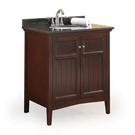 birch bathroom vanity cabinets shop ove decors gavin tobacco 30 in undermount single sink
