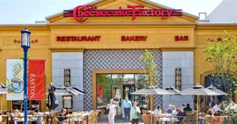 brio easton town center easton town center gt tenants gt cheesecake factory