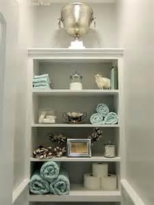 16 clever and stylish bathroom storage ideas hometalk 25 best ideas about bathroom shelves on pinterest half