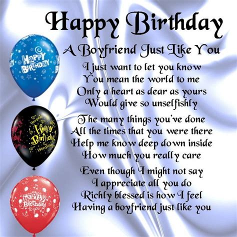 Happy Birthday Quotes For Boyfriend 52 Best Happy Birthday Poems My Happy Birthday Wishes