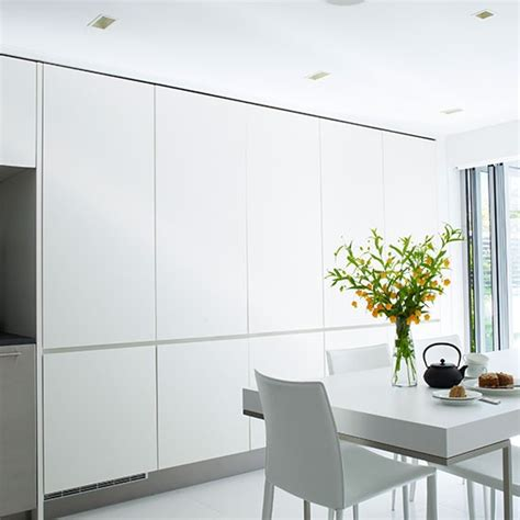floor to ceiling storage sleek and chic floor to ceiling kitchen diner units