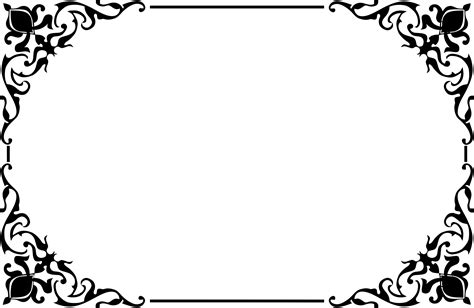 clipart decorative ornamental frame border 2