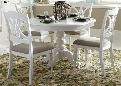 White Kitchen Furniture Sets Summer House Oyster White Antique White Pedestal Dining Room Set From Liberty 607 T4254