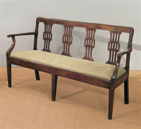 antique french cherry wood settee antique bench antique