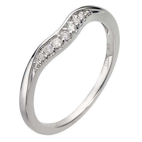 9ct white gold u shaped ring h samuel