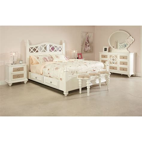 najarian furniture paris panel customizable bedroom set