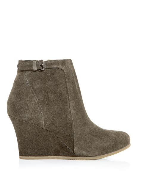 lanvin wedge ankle boots in gray grey lyst