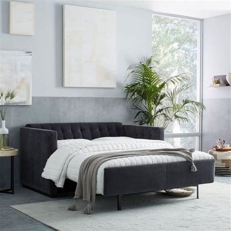 let out bed couch tufted sleeper sofa wrought studio rather modern tufted